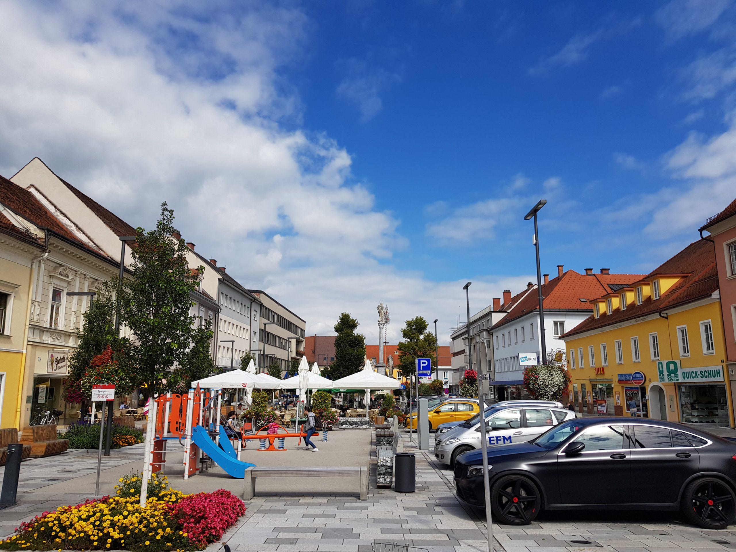 Hauptplatz Knittelfeld - Stadtbummel in Knittelfeld